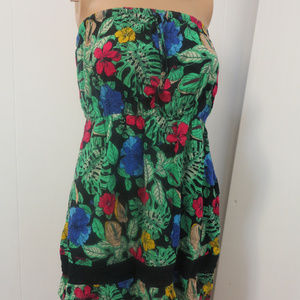 Hawaiian Florals Tropical Print Flower Dress